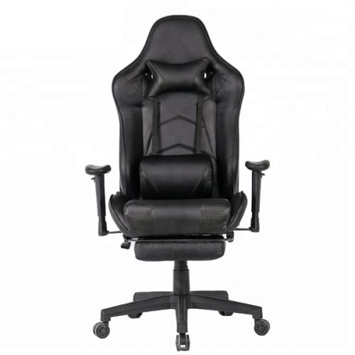 Black Video Rocker Game Chair Racing Office Chair Racing Rocker Gaming Chair