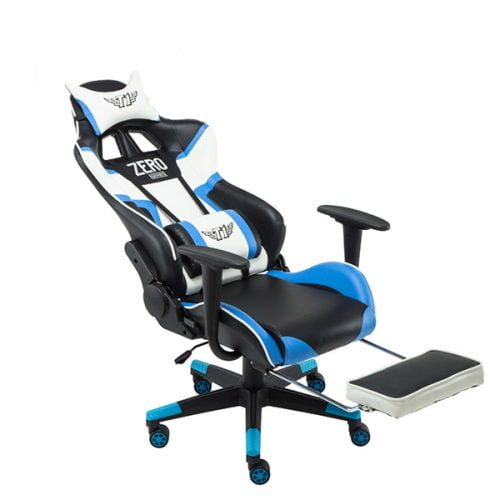 Ergonomic Gaming Chair High Back Leather Chair With Adjustable Footrest