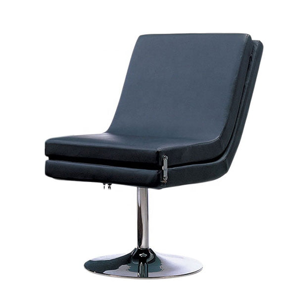 High Back Modern Swivel Pu Accent Chair Chrome Finished