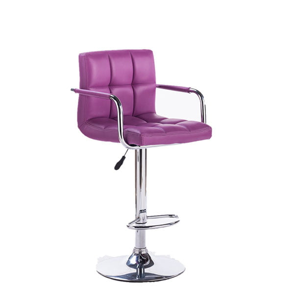 PU Leather Dining Stools Luxury Swivel Bar Chair Backrest Cushion Salon Chairs