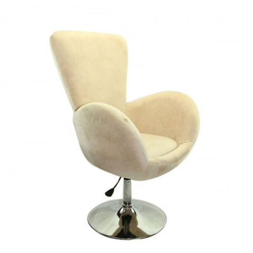 Swivel Egg Shaped Tufted Upholstery Fabric Cover Accent Chairs