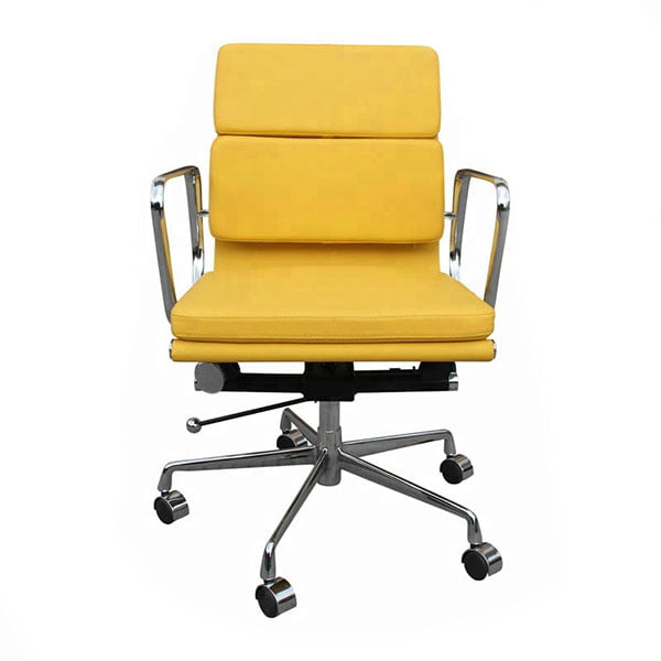 Wholesale Mid Back Soft Pad Leather Swivel Office Chair