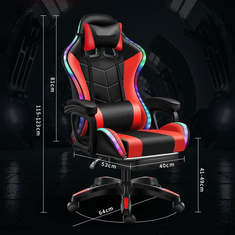 Custom Logo Gaming Chair with Speaker LED Massager