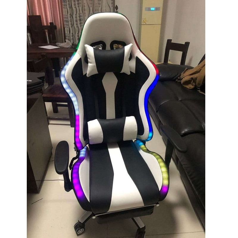 Custom RGB Gaming Chair with Speaker LED