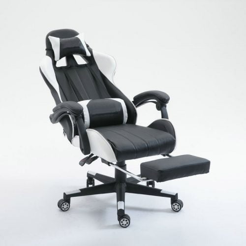 Adjustable Leather PC Games Racing Gaming Chair