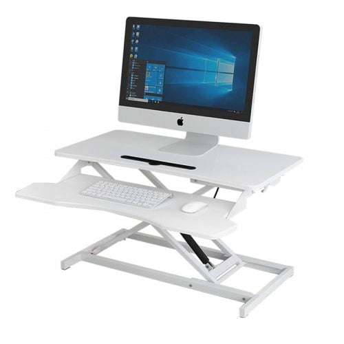 Height Adjustable Sit Stand Up Desk Converter Monitor Tabletop Riser