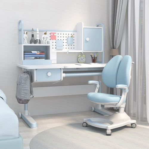 Kids Ergonomic Study Table Adjustable Height Desk