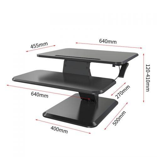 Standing Desk Converter Computer Riser Tabletop Sit Stand Desk