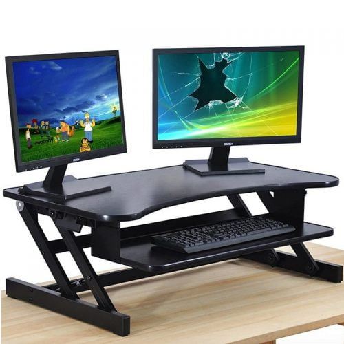 Standing Desk Converter Sit Stand Desk Rise Tabletop Workstation