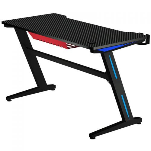 Z Shaped Adjustable RGB LED Ergonomic PC Computer Gaming Desk