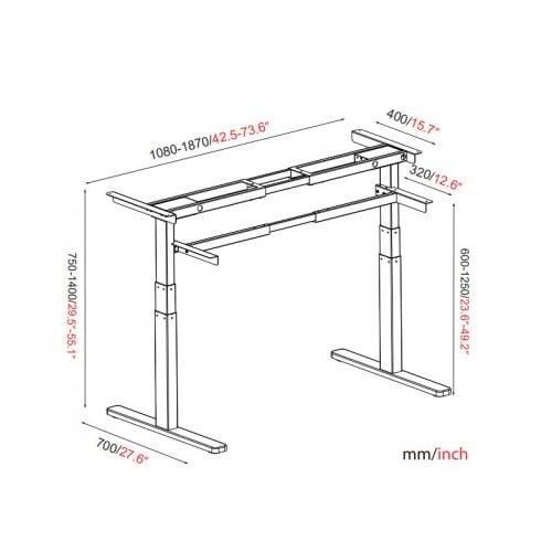 Ergonomic Motorized Standing Desk Frame